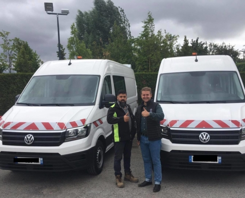 Les deux crafter van Volkswagen